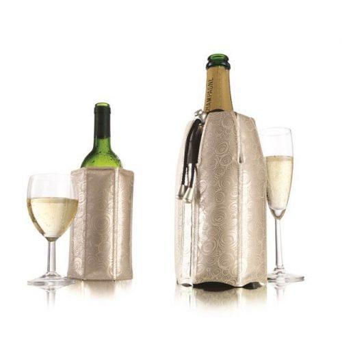 Bor és pezsgőhűtő mandzsetta szett Platinum