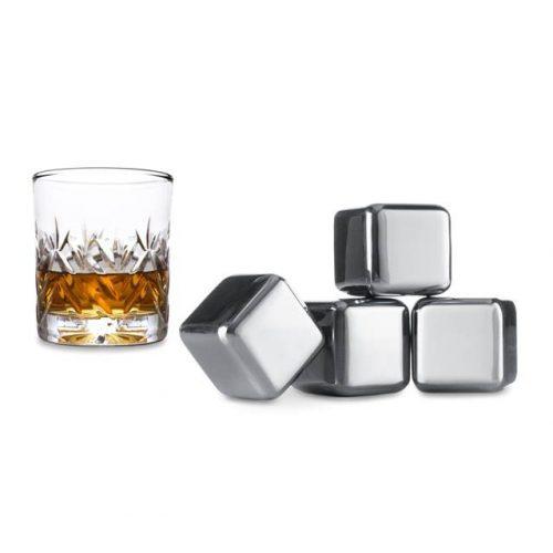 Hűtő fémkocka whisky 4 db-os